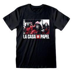 T-shirt NOIR La Casa De Papel - Photo And Logo