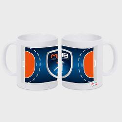 Mug BLANC Terrain Club Lidl StarLigue Logo Montpellier Handball