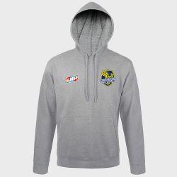 Sweat Shirt Capuche GRIS Logo LNH et Logo Sarrebourg Moselle Sud Handball