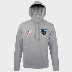 Sweat Shirt Capuche GRIS Logo LNH et Logo Saran Loiret Handball
