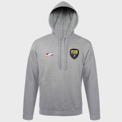 Sweat Shirt Capuche GRIS Logo LNH et Logo Pontault Combault Handball