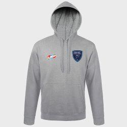 Sweat Shirt Capuche GRIS Logo LNH et Logo Grand Nancy Metropole Handball