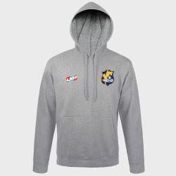 Sweat Shirt Capuche GRIS Logo LNH et Logo Massy Essonne Handball