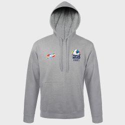 Sweat Shirt Capuche GRIS Logo LNH et Logo Dijon Metropole Handball