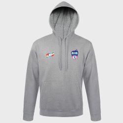 Sweat Shirt Capuche GRIS Logo LNH et Logo Biliere Handball Pau Pyrenees