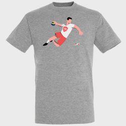T-shirt GRIS Joueur Logo Valence Handball