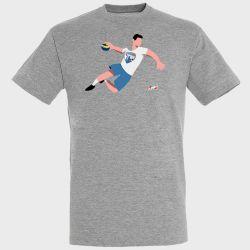 T-shirt GRIS Joueur Logo Strasbourg Eurometropole Handball
