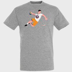 T-shirt GRIS Joueur Logo Selestat Alsace Handball
