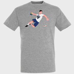 T-shirt GRIS Joueur Logo Saran Loiret Handball