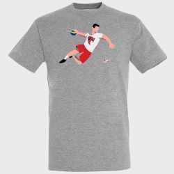 T-shirt GRIS Joueur Logo Cavigal Nice Handball