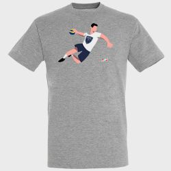 T-shirt GRIS Joueur Logo Grand Nancy Metropole Handball