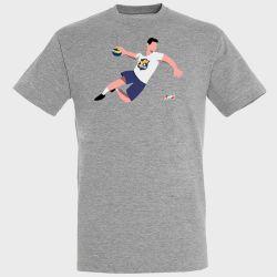 T-shirt GRIS Joueur Logo Massy Essonne Handball