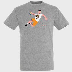 T-shirt GRIS Joueur Logo Grand Besancon Doubs Handball
