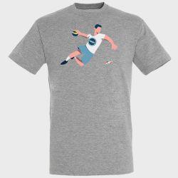 T-shirt GRIS Joueur Logo Fenix Toulouse Handball