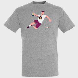 T-shirt GRIS Joueur Logo HBC Nantes