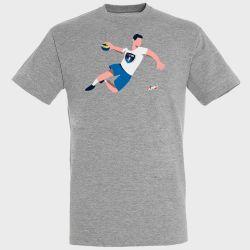 T-shirt GRIS Joueur Logo Montpellier Handball