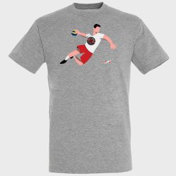 T-shirt GRIS Joueur Logo US Ivry Handball