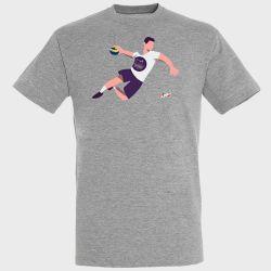 T-shirt GRIS Joueur Logo Istres Provence Handball