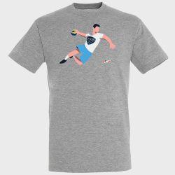 T-shirt GRIS Joueur Logo US Creteil Handball