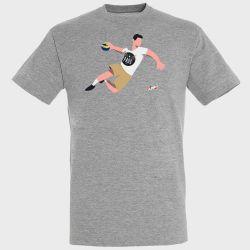 T-shirt GRIS Joueur Logo PAUC Pays D'Aix Universite Club