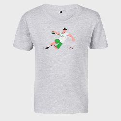 T-shirt Enfant GRIS Joueur Logo USAM Nimes Gard