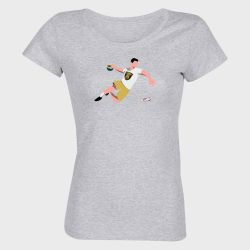 T-shirt Femme GRIS Joueur Logo Dunkerque Handball Grand Littoral