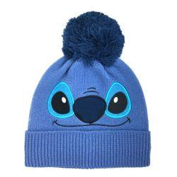 Bonnet Pom BLEU Disney Lilo And Stitch Sitch Face