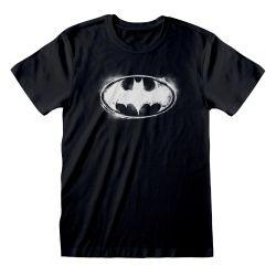T-shirt NOIR DC Batman - Distressed Mono Logo