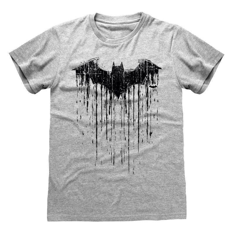 T-shirt GRIS CHINE DC Batman - Dripping Logo