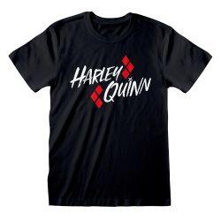 T-shirt NOIR DC Batman - Harley Quinn Bat Emblem