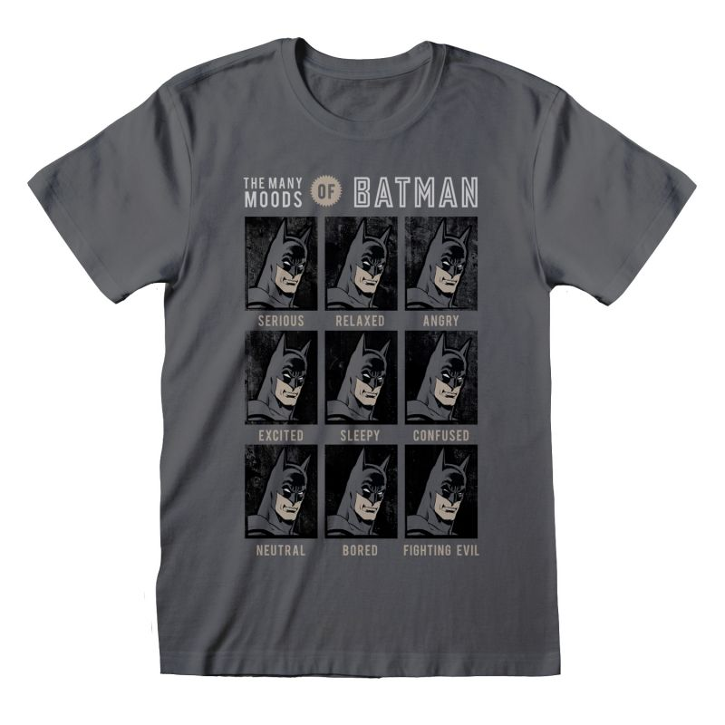 T-shirt ANTHRACITE DC Batman - Many Moods Of Batman