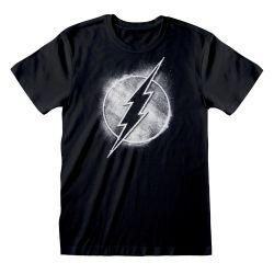T-shirt NOIR DC Flash - Distressed Mono Logo