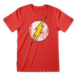 T-shirt ROUGE DC Flash - Logo