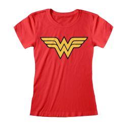 T-shirt Femme ROUGE DC Wonder Woman - Logo