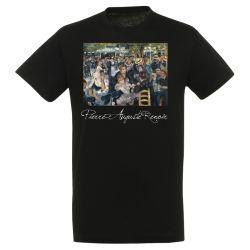 T-shirt NOIR Auguste Renoir - Le bal du moulin de la galette