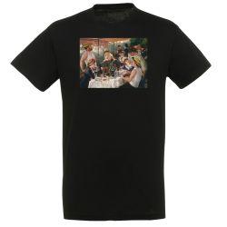 T-shirt NOIR Auguste Renoir - Le dejeuner des cannotiers