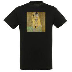 T-shirt NOIR Gustav Klimt - Le Baiser