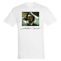 T-shirt BLANC Gustave Courbet - Le desespere