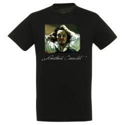 T-shirt NOIR Gustave Courbet - Le desespere