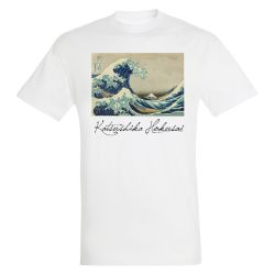 T-shirt BLANC Hokusai - La Grande Vague de Kanagawa