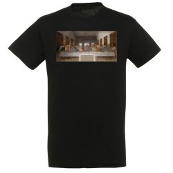 T-shirt NOIR Leonard de Vinci - La Cene
