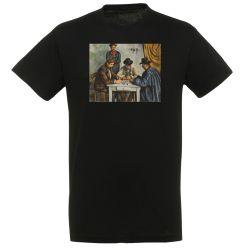 T-shirt NOIR Paul Cezanne - Les joueurs de cartes