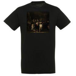 T-shirt NOIR Rembrandt - La Ronde de nuit