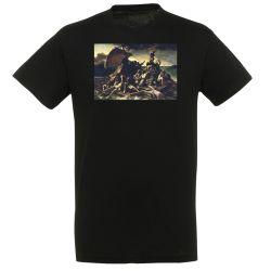 T-shirt NOIR Theodore Gericault - Le radeau de la Meduse