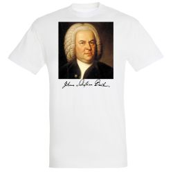 T-shirt BLANC Jean Sebastien Bach