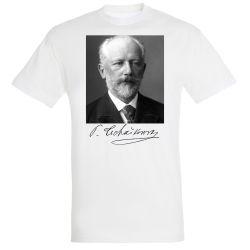 T-shirt BLANC Piotr Tschaikowski