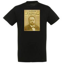 T-shirt NOIR Emile Zola J'accuse