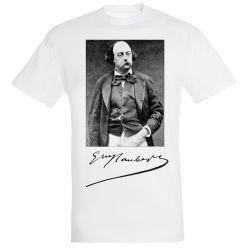 T-shirt BLANC Gustave Flaubert