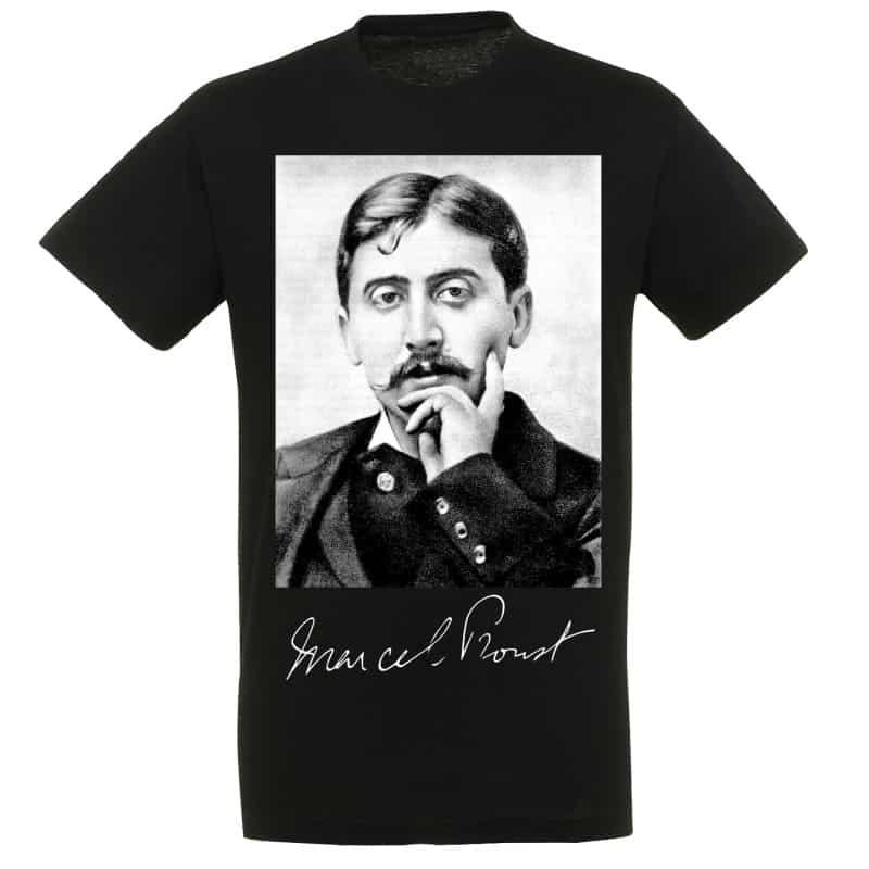 T-shirt NOIR Marcel Proust