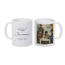 Mug BLANC Paul Cezanne - Les joueurs de cartes